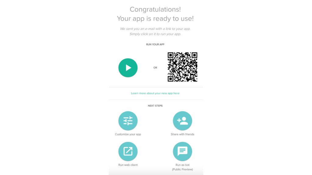 App ready to use