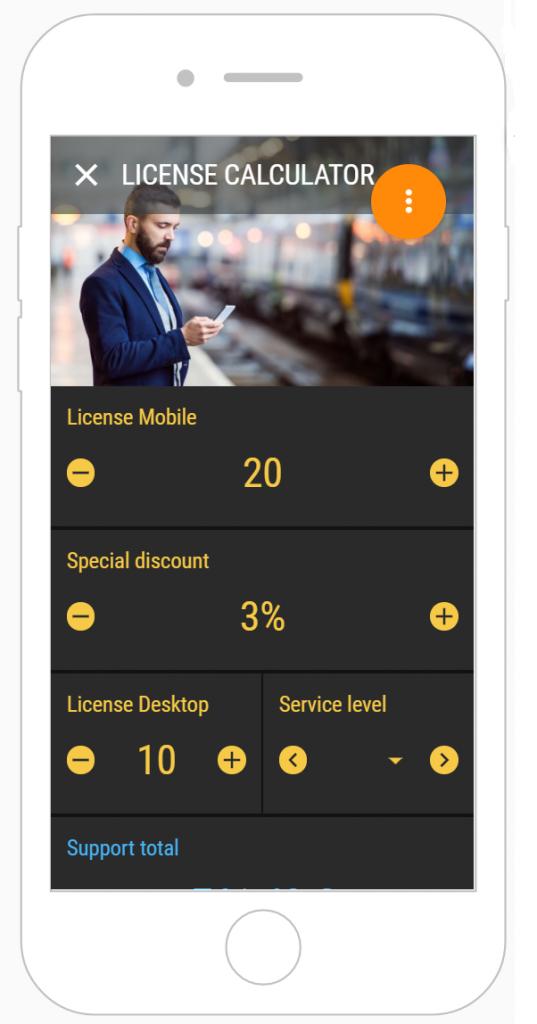 app license calculator