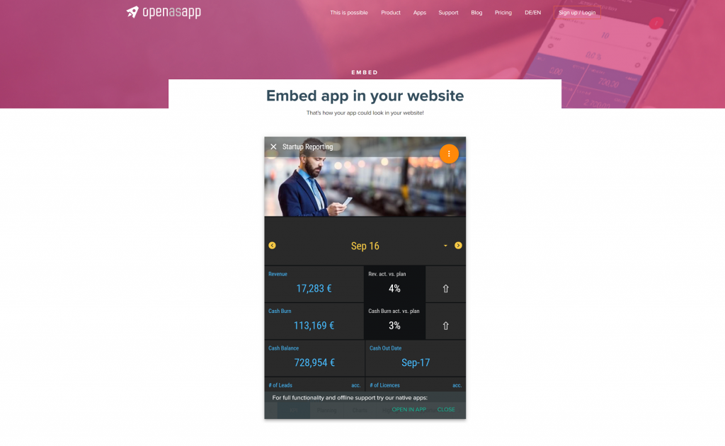 Make your website even better by embedding apps to it!