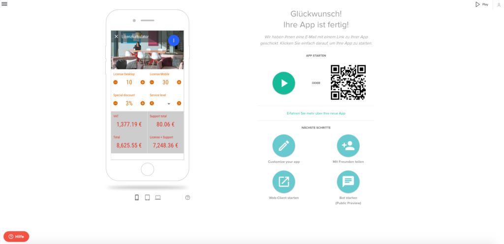 Veröffentlichen Sie Ihre App mit einem Klick