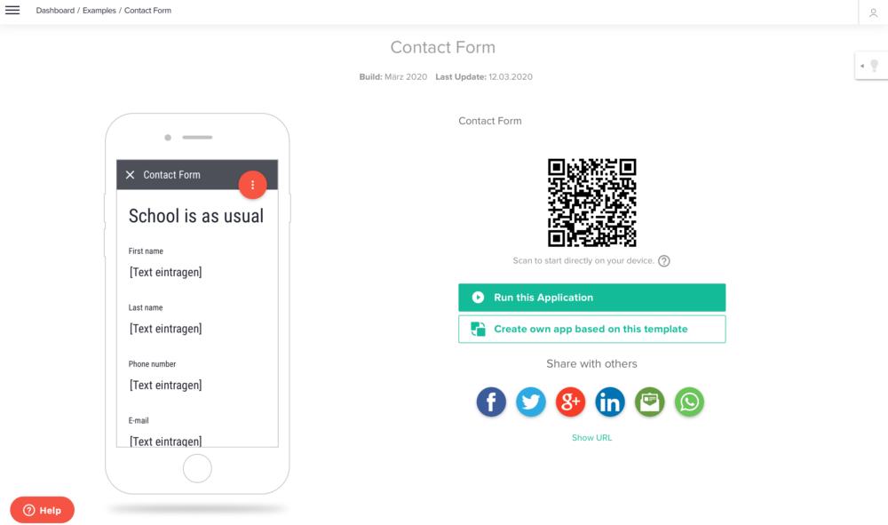 Contact Form App