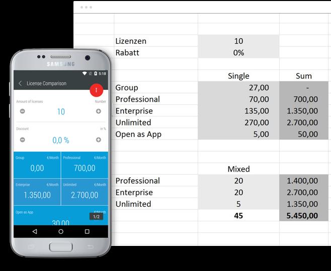 Automatische App-Erstellung
