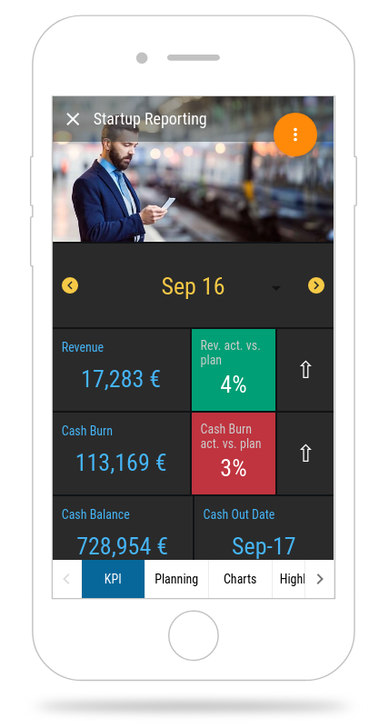 startup reporting app