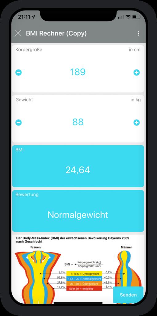 BMI rechner app