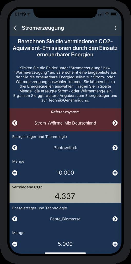 Co2 Emissionen Berechnung App 3