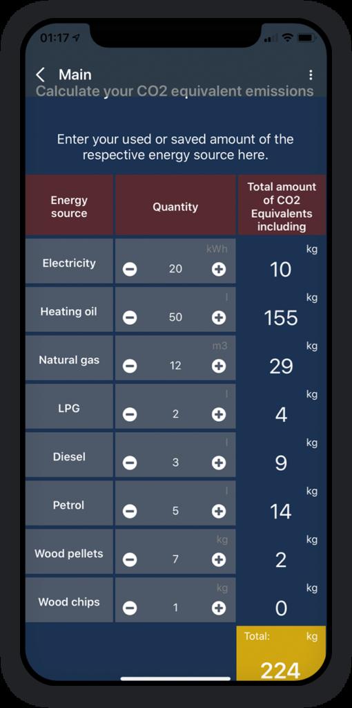 CO2 Emission Calculator App 2
