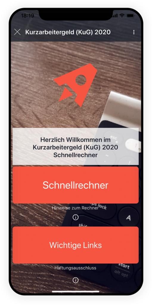 Kurzarbeitrechner app 1