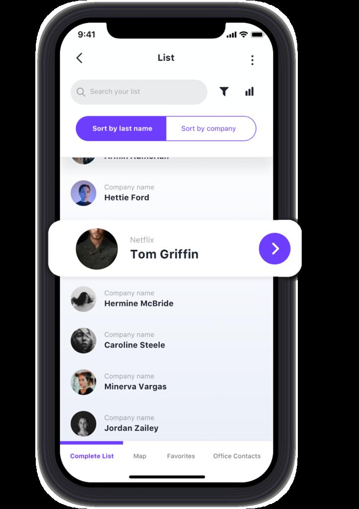 Custom mobile app design for list apps