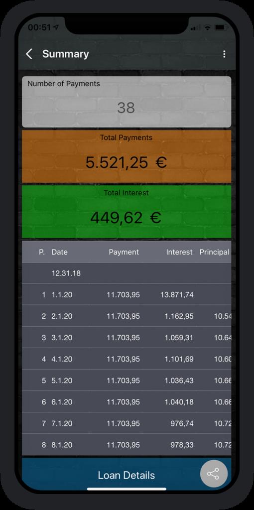 Loan calculator App 2