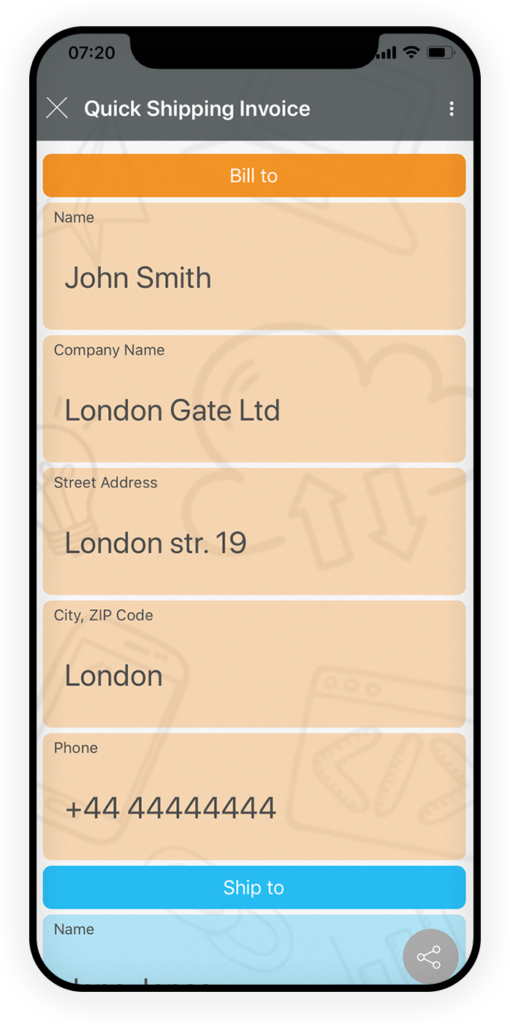 Quick Shipping Invoice App 1