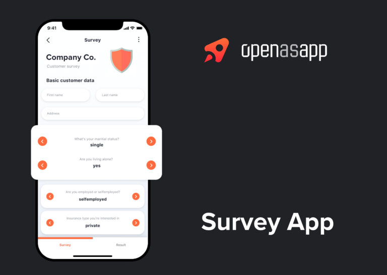 Survey app video