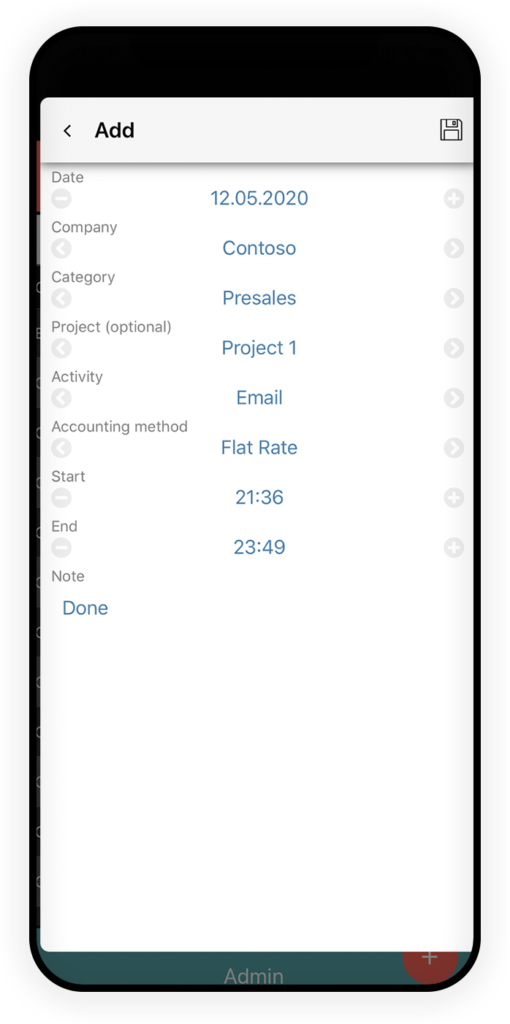 Time Tracking App 3