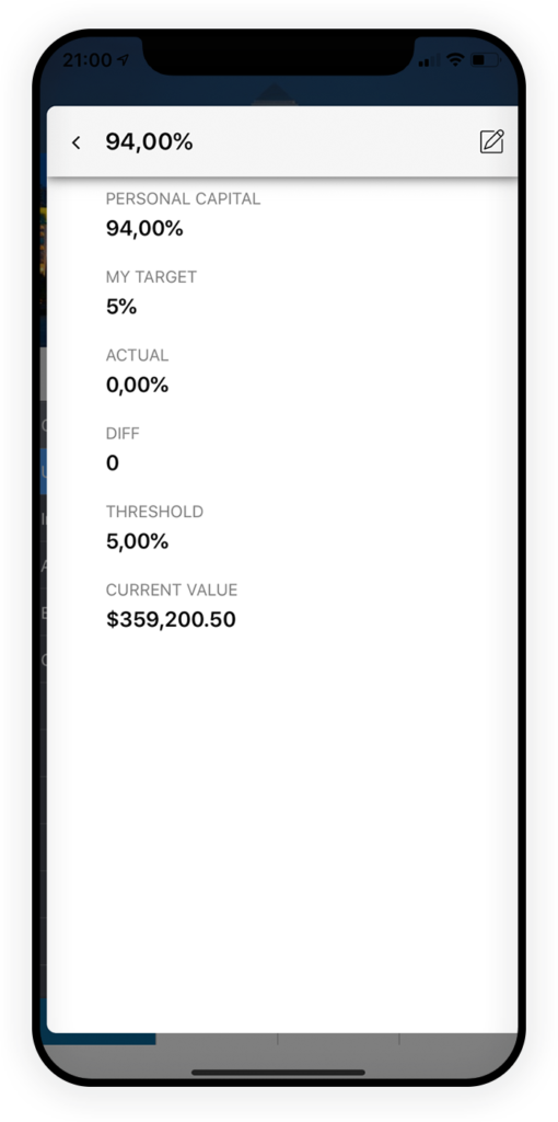 Investitionsverfolgung App 2