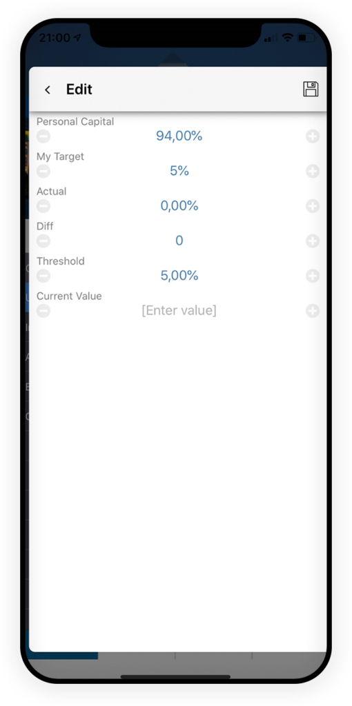 Investitionsverfolgung App 3