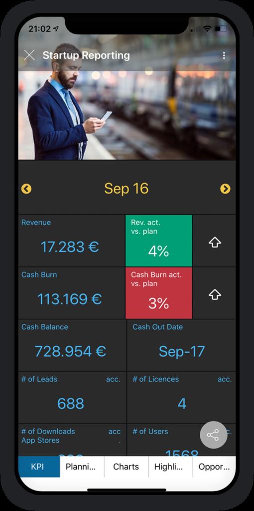 Startup-Berichterstattung App 1