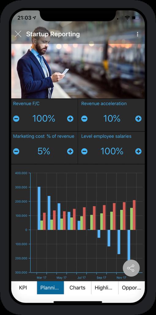 Startup-Berichterstattung App 2