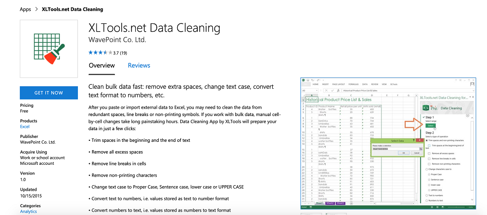 XLTools.net Data Cleaning