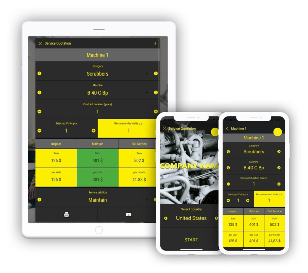 Manufacturing service apps