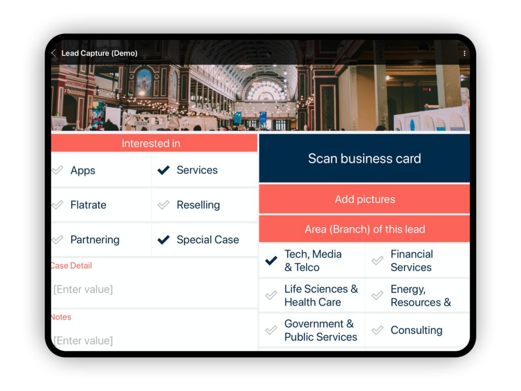 Custom lead capture app