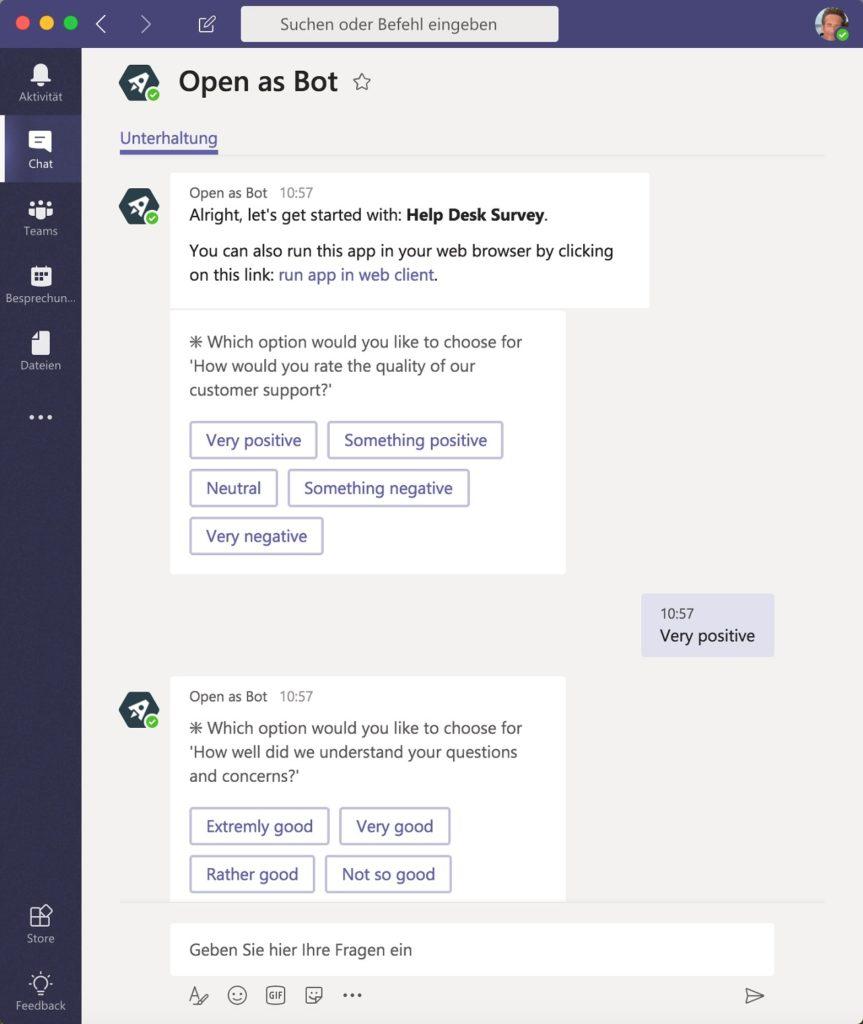 apps bots in Microsoft Teams