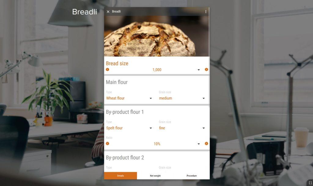 Bread baking per app