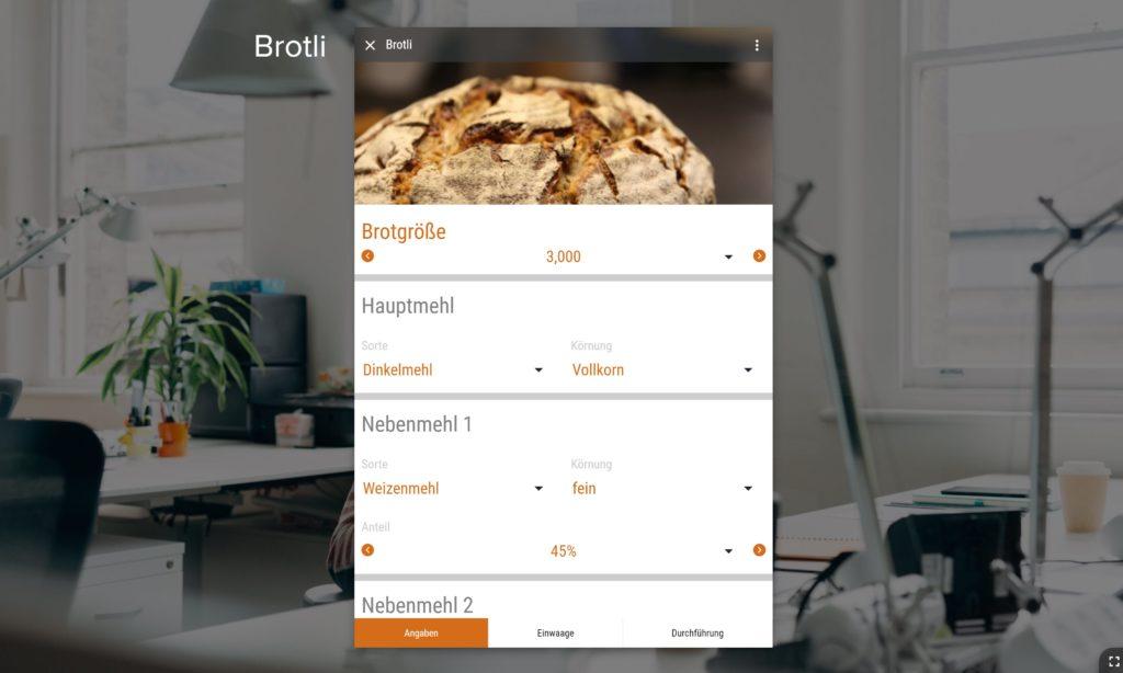 Brot backen per App