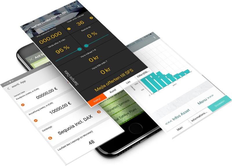 Beispiele Finanz-Apps von Siemens